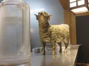 味噌らーめん@札幌味噌ラーメン ひつじの木 大森店(大森駅)羊のオブジェ