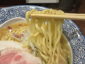 味噌そば@貝出汁中華そば 貝香屋(新宿三丁目駅)麺