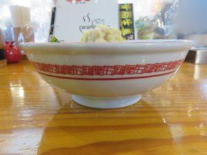 背脂生姜ワンタン麺@五福星(泉中央駅)ビジュアル:サイド