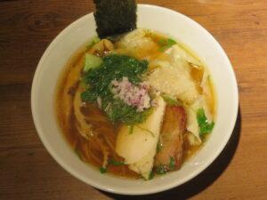 鶏ワンタン醤油らぁ麺@Tori-Dashi Ramen & Bar HINOTORI(新杉田駅)ビジュアル:トップ