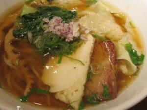 鶏ワンタン醤油らぁ麺@Tori-Dashi Ramen & Bar HINOTORI(新杉田駅)具