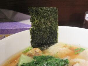 鶏ワンタン醤油らぁ麺@Tori-Dashi Ramen & Bar HINOTORI(新杉田駅)具:海苔