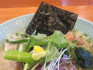 鯛しおわんたん蕎麦@麺師 井じま(埼玉県秩父市)具:海苔