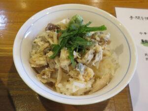 鯛しおわんたん蕎麦@麺師 井じま(埼玉県秩父市)鯛めし