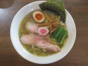 鶏がら白醤油らーめん@自家製麺こうじ(北久里浜駅)ビジュアル:トップ