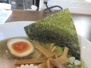 鶏がら白醤油らーめん@自家製麺こうじ(北久里浜駅)具:海苔