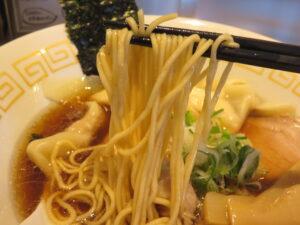 特製ワンタン麺 黒だし@麺や くろえもん(埼玉県坂戸市)麺