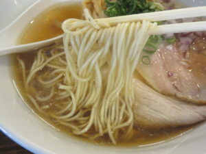 鶏蕎麦(醤油)@鳥長水産(水戸駅)麺