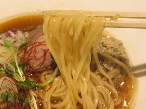 ラムとのどぐろのラーメン@進化論(大塚駅)麺