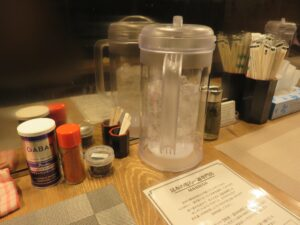 昆布の塩らー麺@昆布の塩らー麺専門店 MANNISH 東日本橋店(東日本橋駅)卓上