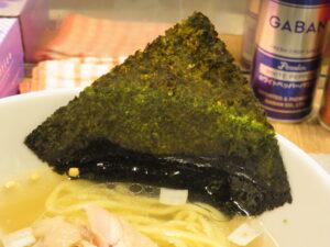 昆布の塩らー麺@昆布の塩らー麺専門店 MANNISH 東日本橋店(東日本橋駅)具:海苔