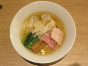 白醤油二種の雲吞麺@支那蕎麦 澤田(新宿御苑前駅)ビジュアル:トップ