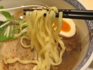 7種の魚介塩そば@鶏そば 久遠(南林間駅)麺