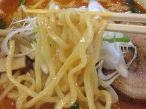 四川風担々麺(中辛・平打ち麺)@時ちゃんラーメン 新中野店(新中野駅)麺