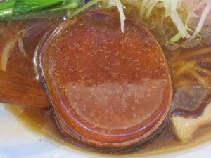 秋刀魚醤油らあめん@らあめん 常護(下落合駅)スープ