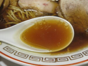 中華そば(醤油)@中華そば 一徹(北千住駅)スープ