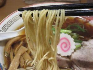 中華そば(醤油)@中華そば 一徹(北千住駅)麺