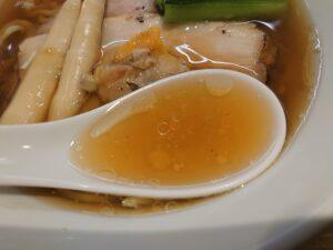 醤油らぁ麺@Tokyo Bay Fisherman's Noodle 茅ヶ崎店(茅ヶ崎駅)スープ