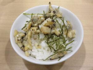 中華そば 醤油@貝麺みかわ(下北沢駅)月替わり 貝ごはん(小)