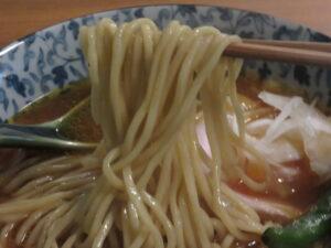 魚介だしのトマトのらーめん@RA-MEN IKKEN(盛岡駅)麺