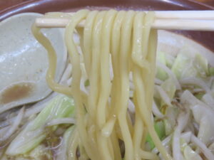 みそラーメン@ラーメン 東横 笹口店(新潟駅)麺