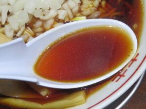 元祖竹岡式ラーメン@元祖竹岡式ラーメン 竹福(三田駅)スープ