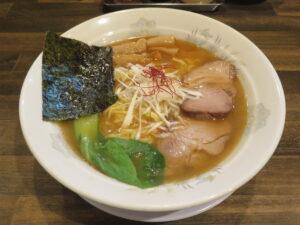 にぼしラーメン@真ごころラーメン竹(亀有駅)ビジュアル(細麺)