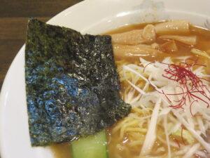にぼしラーメン(細麺)@真ごころラーメン竹(亀有駅)具:海苔