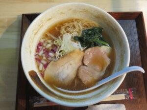 醤油らぁ麺@貝出汁らぁ麺 みぎわ(大宮駅)ビジュアル:トップ