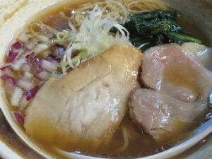 醤油らぁ麺@貝出汁らぁ麺 みぎわ(大宮駅)具