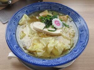 鶏だし海老雲吞麺(塩)@ワンタン屋 今福商店(埼玉県川越市)ビジュアル