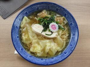 鶏だし海老雲吞麺(塩)@ワンタン屋 今福商店(埼玉県川越市)ビジュアル:トップ