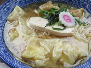 鶏だし海老雲吞麺(塩)@ワンタン屋 今福商店(埼玉県川越市)具