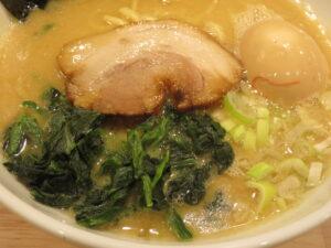 味玉クリーミー醤油豚骨麺@トクベツ。(自由が丘駅)具
