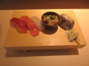 中華そば並@鮨らぁ~麺 釣りきん 本店(神奈川駅)赤酢おすすめ5貫