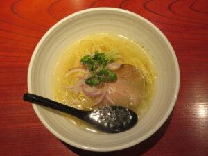 鶏油塩ラーメン@銀座 昊 麻布十番店(麻布十番駅)ビジュアル:トップ