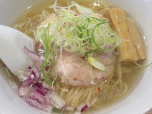塩らぁ麺~ポルチーニ香る~@らぁ麺 半七(鶴ヶ峰駅)具