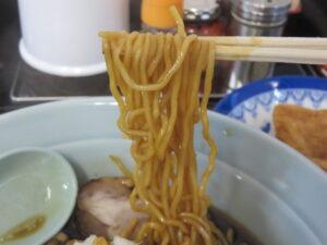 ラーメン(濃いめ)@木更津ラーメン もりさわ(穴守稲荷駅)麺