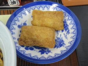 ラーメン(濃いめ)@木更津ラーメン もりさわ(穴守稲荷駅)いなり寿司