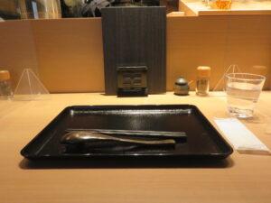 冷やし貝だしそば@恵比寿貝鷄中華蕎麦 たかよし(恵比寿駅)卓上