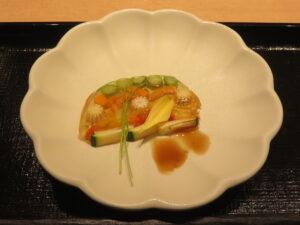 冷やし貝だしそば@恵比寿貝鷄中華蕎麦 たかよし(恵比寿駅)テリーヌ