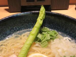 冷やし貝だしそば@恵比寿貝鷄中華蕎麦 たかよし(恵比寿駅)具:アスパラガス