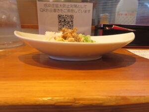 小麦三昧(冷やしらーめん)@らーめん 芝浜(下新田駅)まぜそば:ビジュアル:サイド