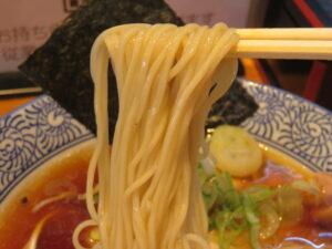 小麦三昧(冷やしらーめん)@らーめん 芝浜(下新田駅)冷やしらーめん:麺