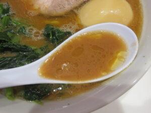 ラーメン(味玉)@らーめん 三浦家(京成金町駅)スープ