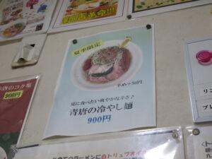 青唐の冷やし麺@麺や 魁星(関内駅)メニュー3