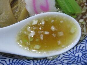 東京下町ラーメン@鶴の恩がえし 銀座店(新富町駅)スープ