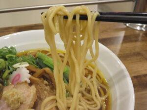 中華そば -生姜-@拉麺アイオイ(志村三丁目駅)麺