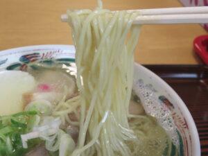 塩ラーメン@ひとしの店(稚内駅)麺